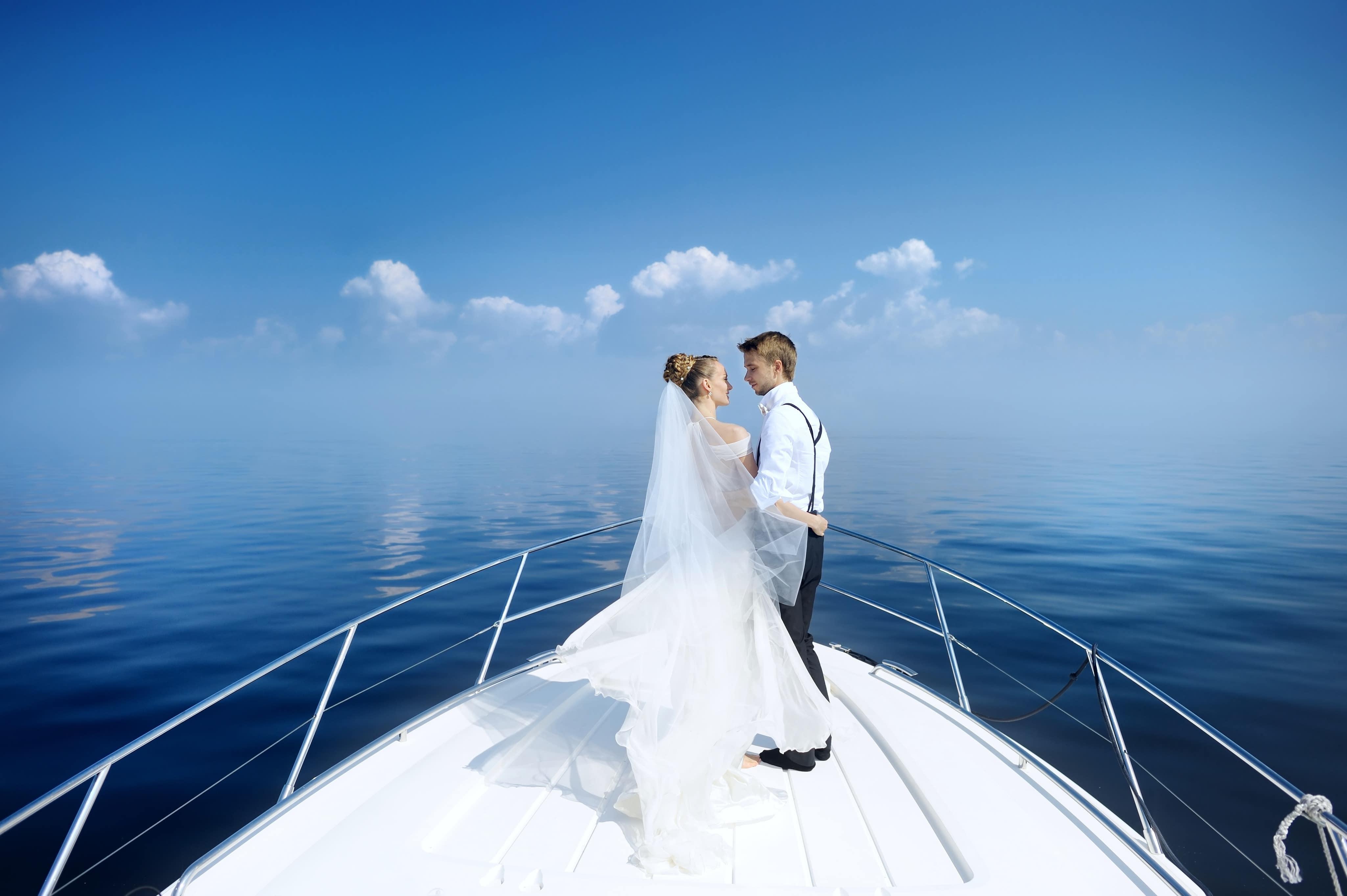 Boda a bordo de un velero