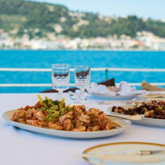 Comida a bordo de un velero